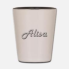 Alisa Classic Retro Name Design Shot Glass