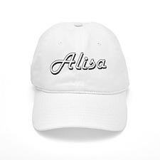 Alisa Classic Retro Name Design Baseball Cap