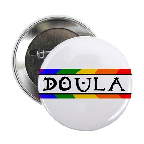 """Doula Rainbow 2.25"""" Button (100 pack)"""