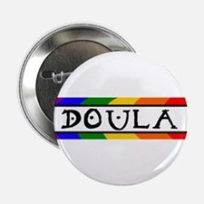 Doula Rainbow Button