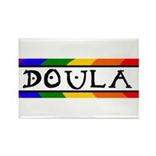 Doula Rainbow Rectangle Magnet