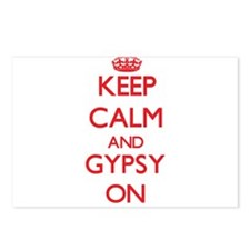 Keep Calm and Gypsy ON Postcards (Package of 8)