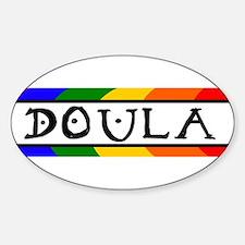 Doula Rainbow Oval Decal