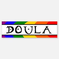 Doula Rainbow Bumper Bumper Bumper Sticker