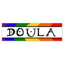 Doula Rainbow Bumper Bumper Sticker