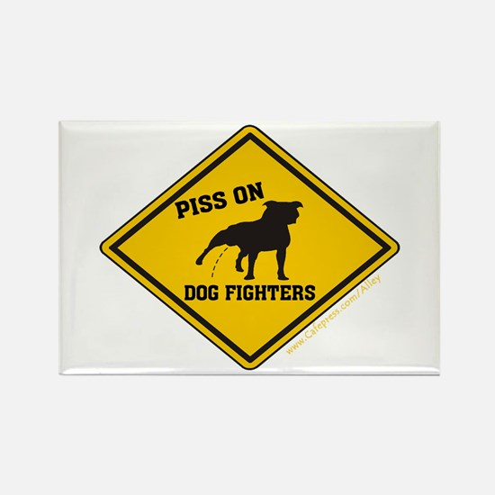 Piss On Animal Abusers Rectangle Magnet