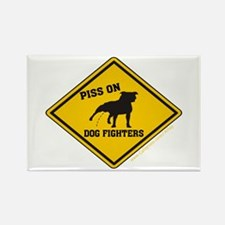 Piss On Animal Abusers Rectangle Magnet (100 pack)