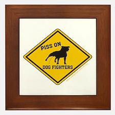 Piss On Animal Abusers Framed Tile