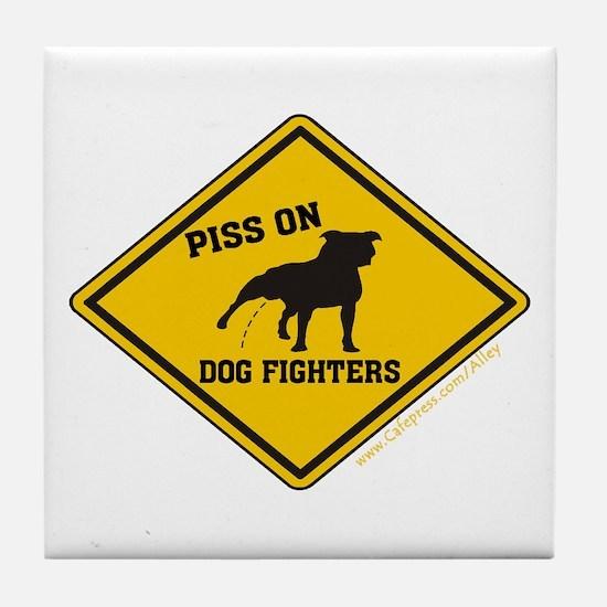 Piss On Animal Abusers Tile Coaster