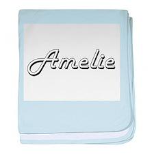 Amelie Classic Retro Name Design baby blanket