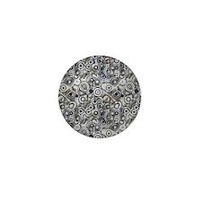 Black Gray  Mini Button