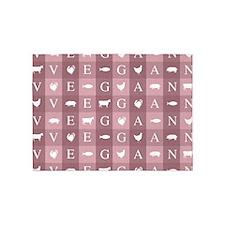 Vegan Animals Art 5'x7'Area Rug
