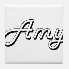 Amy Classic Retro Name Design Tile Coaster