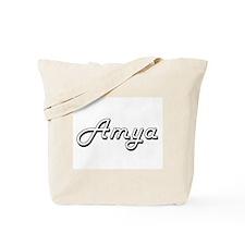 Amya Classic Retro Name Design Tote Bag