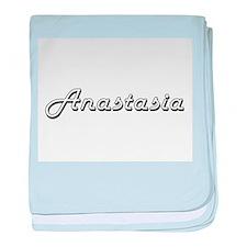 Anastasia Classic Retro Name Design baby blanket