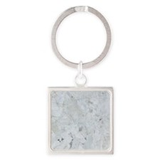 Shattered Mica Glass Square Keychain