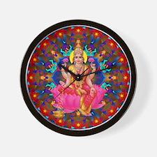 Daily Focus Mandala 4.2.15 Lakshmi Wall Clock