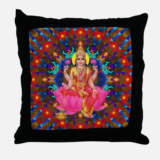 Daily Focus Mandala 4.2.15 Lakshmi Throw Pillow