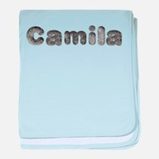 Camila Wolf baby blanket