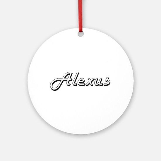 Alexus Classic Retro Name Design Ornament (Round)