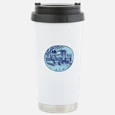 Snow Plow Truck Oval Etching Travel Mug