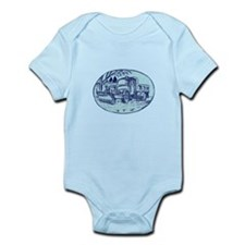 Snow Plow Truck Oval Etching Body Suit