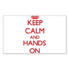 Keep Calm and Hands ON Decal