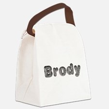 Brody Wolf Canvas Lunch Bag