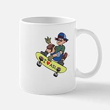 I Love ASL & Skateboarding! Mug
