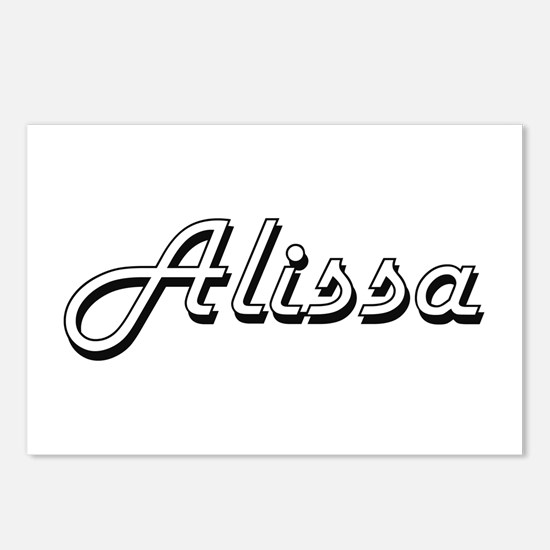 Alissa Classic Retro Name Postcards (Package of 8)