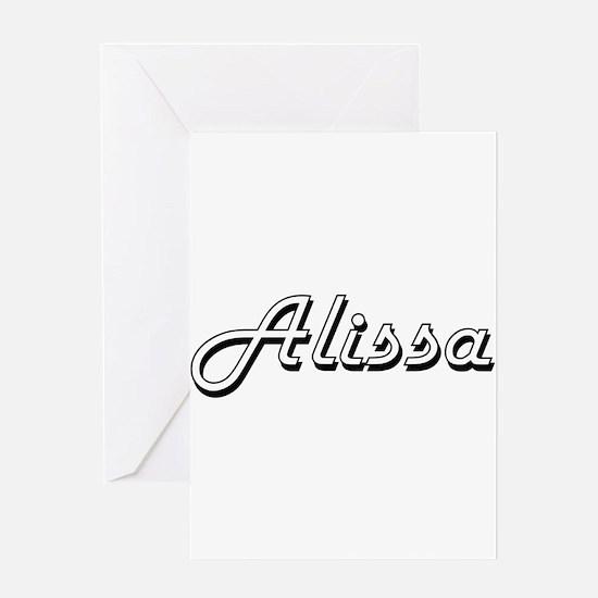 Alissa Classic Retro Name Design Greeting Cards