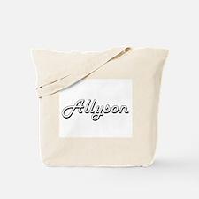 Allyson Classic Retro Name Design Tote Bag