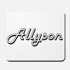 Allyson Classic Retro Name Design Mousepad