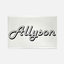 Allyson Classic Retro Name Design Magnets