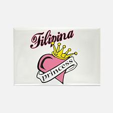Filipina Princess Rectangle Magnet