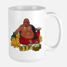 Fat Money Buddha Large Mugs