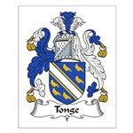 Tonge Family Crest Small Poster