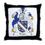 Tonge Family Crest Throw Pillow