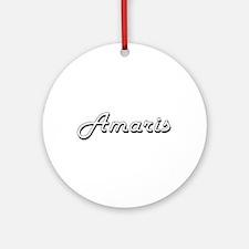 Amaris Classic Retro Name Design Ornament (Round)