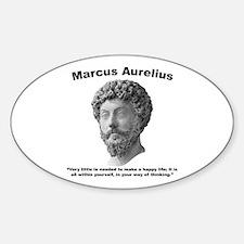 Aurelius: Happy Sticker (Oval)
