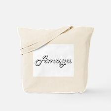 Amaya Classic Retro Name Design Tote Bag
