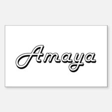 Amaya Classic Retro Name Design Decal