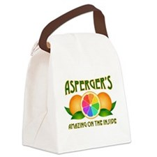 Asperger's Amazing Oranges Canvas Lunch Bag