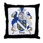 Tong Family Crest Throw Pillow