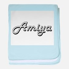 Amiya Classic Retro Name Design baby blanket