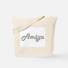 Amiya Classic Retro Name Design Tote Bag