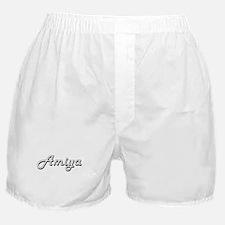 Amiya Classic Retro Name Design Boxer Shorts