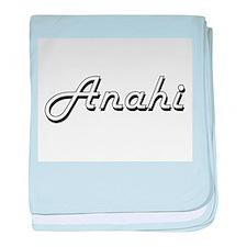Anahi Classic Retro Name Design baby blanket