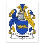 Tompson Family Crest Small Poster
