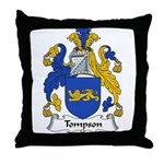Tompson Family Crest Throw Pillow